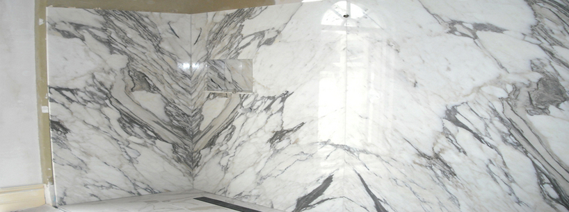 Calacata Gold Marble Bathroom