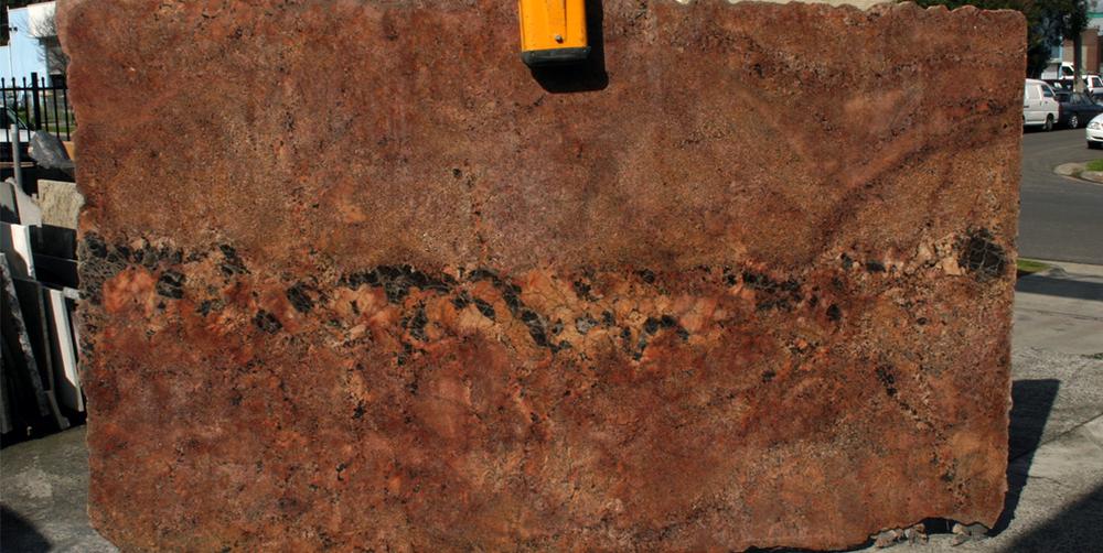 Granite Slab Red Bordeaux Stonemasons Melbourne