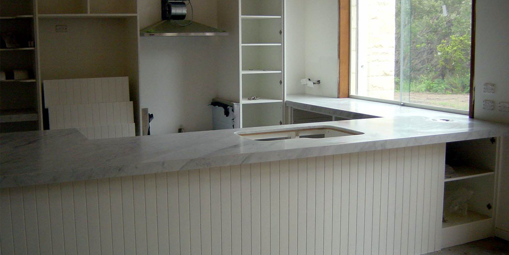 Kitchen Bench Top White Carrara Marble Stonemasons