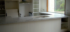 Kitchen Bench Top - White Carrara Marble