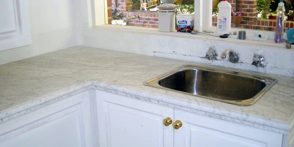 Marble Kitchen Top White Carrara 30mm Stonemasons