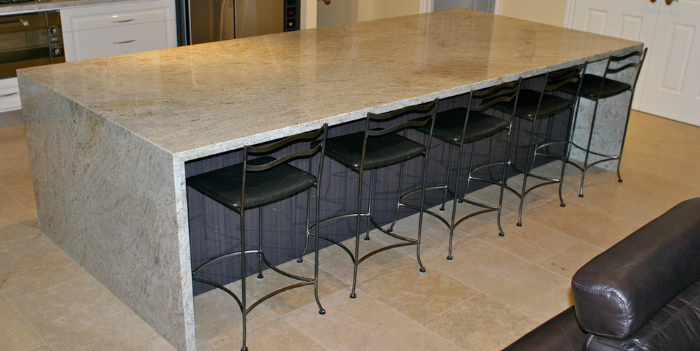 Grantie Top Floating Kitchen Island
