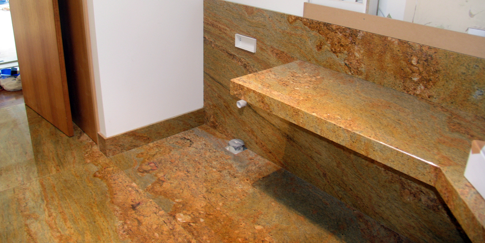 Bathroom Kashmir Gold Granite Stonemasons Melbourne