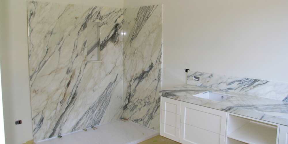 Bathroom Calacatta Gold Marble Stonemasons Melbourne