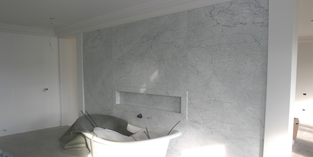 Bathroom White Carrara Marble Stonemasons Melbourne