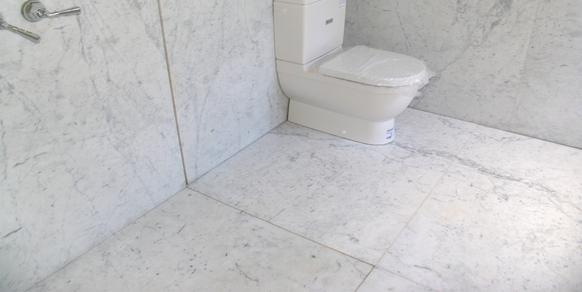 Bathroom White Carrara Honned Marble Stonemasons Melbourne