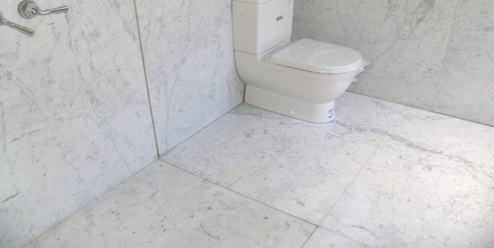 Bathroom White Carrara Honned Marble Stonemasons Melbourne