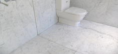 Bathroom - White Carrara Honned Marble