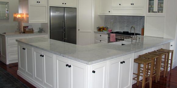 Kitchen White Carrara Marble Stonemasons Melbourne