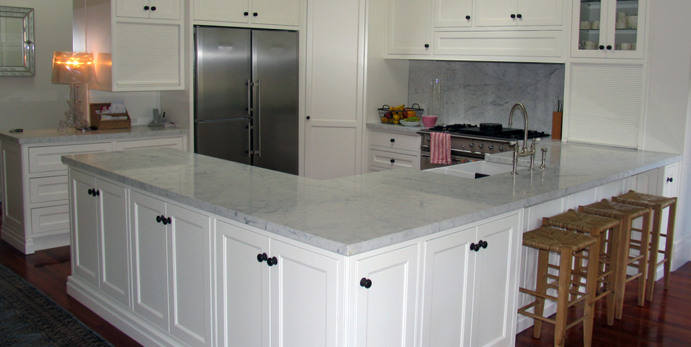 Kitchen White Carrara Marble Stonemasons Melbourne