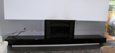 Granite Fireplace-Black Absoluto