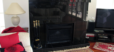 Granite Fireplace Black Pearl