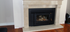 Fireplace-Botticino Lite Marble
