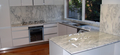 Kitchen-Callacata Carrara Marble