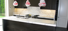 Kitchen - Honed Callacata Marble