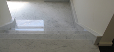 Marble Staircase-White Carrara