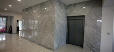 Lift Elevation - White Carrara Marble