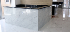 Bar Elevation - White Carrara Marble