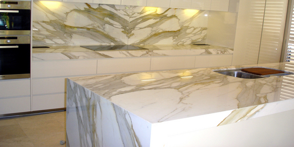 Marble Kitchen Calacatta Gold Stonemasons Melbourne