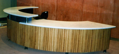 Reception Top - White Carrara Goia Marble