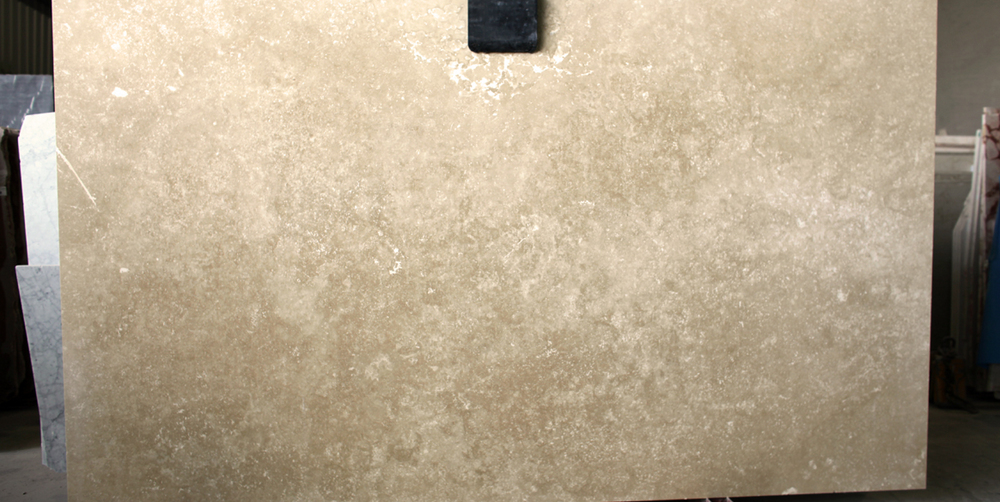 Travertine Stone Slabs : Roman travertine slab cross cut