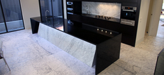 Black Absoluto Granite -White Carrara Marble - Glen Iris Residence
