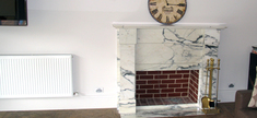 Fireplace - Calacatta Gold Marble