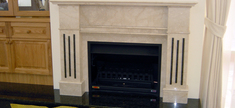 Fireplace - Botticino Marble Ubatuba Granite