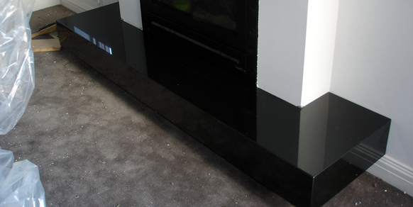 Fireplace Zimbabwe Black Granite Stonemasons Melbourne
