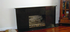 Fireplace - Green Ubatuba Granite
