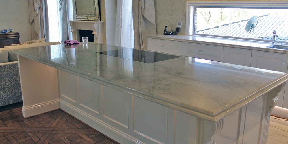 Wheelers Hill Residence Amadora Marble Sea Pearl Granite